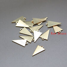 50 Pieces Raw Brass Triangle Charm - Geometry - 15.7x9mm (3079C-M-323)
