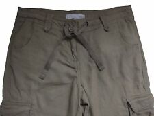 New Womens Brown Linen NEXT Trousers Size 12 Petite LABEL FAULT