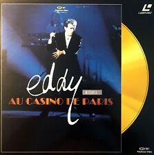 LASERDISC CONCERT LIVE EDDY MITCHELL AU CASINO DE PARIS EXCELLENT ETAT RARE 1990