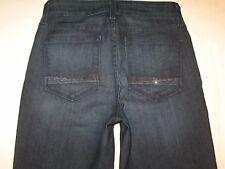 NYDJ High Waist Straight Jeans USA Sz 2 EUR 32 w Lift Tuck Crystal Pocs NEW