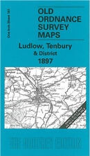 OLD ORDNANCE SURVEY MAP LUDLOW TENBURY PRESTEIGNE KNIGHTON KNILL NEW RADNOR 1897