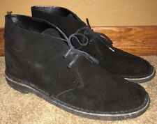 Clarks Chukka Mens Black Beeswax Soles Casual Shoes Size 42 READ DESCRIPTION