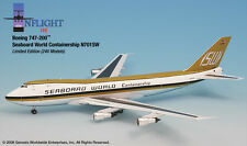 InFlight200 Seaboard World Airlines N701SW Boeing 747-200 1:200 Scale Diecast Mt