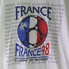 Vintage France 98 Coupe De Monde World Cup Official Licensed T-Shirt Size Large
