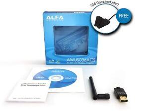 Alfa AWUS036ACS 802.11ac 600Mbps USB 3.0 Dual Band Long Range WiFi USB Adapter