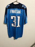Reebok Authentic NFL Jersey Titans Cortland Finnegan Blue XLarge