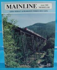MAINLINE MODELER MAGAZINE JUNE 1988 W&LE DEPOT, C&NW EXPRESS CAR, MILW BOX CARS