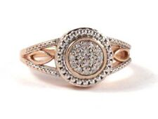 10k Rose Gold Round Diamond Cluster Right Hand Ring .28ct