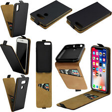 Vertical Flip Case Phone Soft Leather Cover Holster for iPhone Samsung LG Huawei