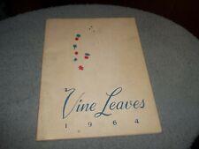 1964 SACRED HEART HIGH SCHOOL YEARBOOK VINELAND NJ VINE LEAVES