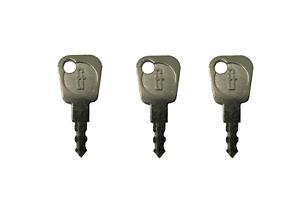 UPVC WINDOW LOCK KEYS 3 x FAB FIX  FOR ESPAG COCKSPUR KEY LOCKING HANDLES
