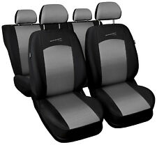 Car seat covers fit Opel Astra - full set silver / black sport style
