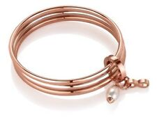 NEWBRIDGE triple birthstone bangle bracelet June pearl silver rose gold NEW next