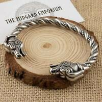 Viking Dragon Bracelet Stainless Steel Norse Arm Ring