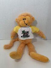 First & Main Rainbow Monkeys orange yellow plush in dentist t-shirt 6362