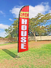 FREE GIFT W/Feather Swooper   Banner Sign Windless Flag 15' Kit -OPEN HOUSE