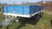 Anhänger Ladewagen Holz Wagen Traktor Einachser mit Auflaufbremse Miststreuer