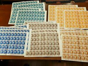 PARAGUAY Scott #791-795  20 MNH Sheets, 4 of each value! 1964 TOKYO OLYMPICS!