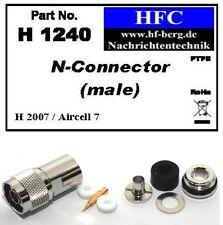 1 Pezzo N maschio per H 2007 / Aircell 7 / Highflexx 7 Cavo coassiale 50 Ω (