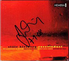 Daniel Harding SIGNED stale kleiberg rosevinduet CD 1988 Knut Risan pietra accrescono