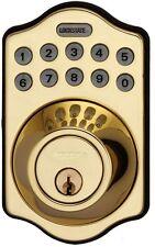 LockState Keyless DB500 POLISHED BRASS Electronic Deadbolt Lock