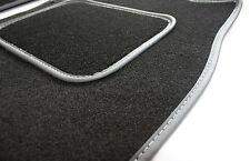 Perfect Fit Black Carpet Car Mats for Citroen ZX 97-98 - Grey Leather Trim