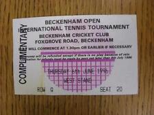 06/06/1996 BIGLIETTO DA TENNIS: beckenham torneo open internazionale [a beckenham