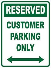 (4 X SIGNS) RESERVED CUSTOMER PARKING ONLY - 300 X 225MM -  PLASTIC/POLY SIGN