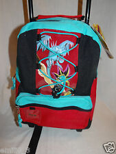NEW WITH TAGS YU GI OH  SMALL ROLLING BACKPACK 13""