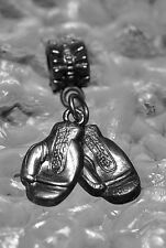 Boxing gym Gloves charm sterling silver .925 European Dangle bead jewelry LOOK