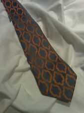 Vintage John Hutton Tie in Grey/ Light Blue, and Peach. (T17)