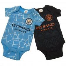 Manchester City Bebé Cuerpo Suit Creeper 2 piezas conjunto oficial hogar y lejos