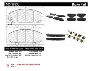 Brake Pad Set Centric Parts 105.16830