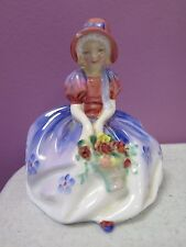"ROYAL DOULTON ENGLAND ""MONICA"" GIRL w/FLOWER BASKET PORCELAIN FIGURINE 1467"