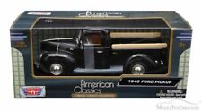Motormax 1/24 , Ford Pickup 1940 - Black. Metal Model Car