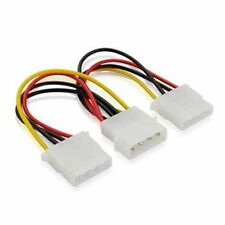 New 4 Pin IDE 1-to-2 Molex IDE Power Supply Y Splitter Exentsion Cable cord xn
