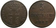 Regno di Sardegna, Carlo Alberto, 5 centesimi 1842 - R