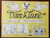 Time & Tune, Autumn Term 1958 BBC Broadcasts For Schools book – Pub. 1958