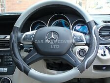 i - TO FIT MERCEDES A CLASS,STEERING WHEEL COVER, BLACK/GREY ECO LEATHER SWC 57M