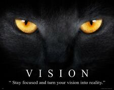 Vision Classroom Motivational Poster Art Print Cat Kitten Pet Supplies MVP580