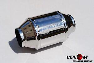 """MRC VENOM high flow stainless 2.5"""" 63.5mm 200 cell Cat Catalytic Converter."""
