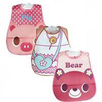 3pcs/set Baby Boy Girl Kids Bibs Saliva Towel Cute Cartoon Bib Feeding Bandana