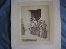 Biskra enfants  Algérie  tirage albuminé vintage albumen print Jean Geiser