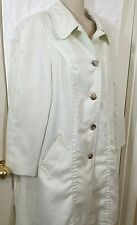 London Fog Maincoats Off White Women's Trench coat Size 14 Classic Style