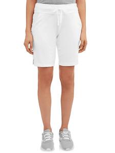 Athletic Works Womens Plus Knit Athleisure White Bermuda Short Size 3XL 22 24