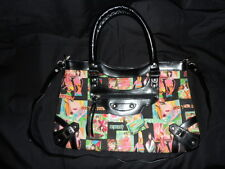Black & Multi Coloured *SLOGAN* Shoulder / Handbag - Medium Size - USED ONCE!