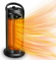 2-In-1 Space Radiant Heater Quiet Fast 120° Oscillation Infrared Dual-Protection