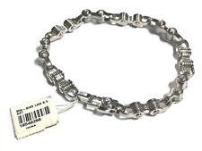 "Stainless Steel Biker Bracelet Men's 8.5"" Bike Chain Link Bracelet"