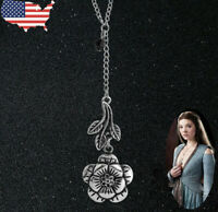 US Ship Game of Thrones Women Necklace Margaery Tyrell Leaf Rose Flower Jewerly