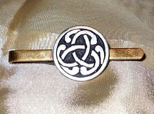 Rare Vintage St Justin Pewter Celtic Tie Clip Made in England